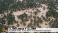 Malaysia floods: At least 3 dead, over 30,000 evacuated   JPNN.us